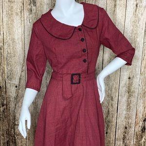 Plaid Peter Pan Collar Vintage Dress